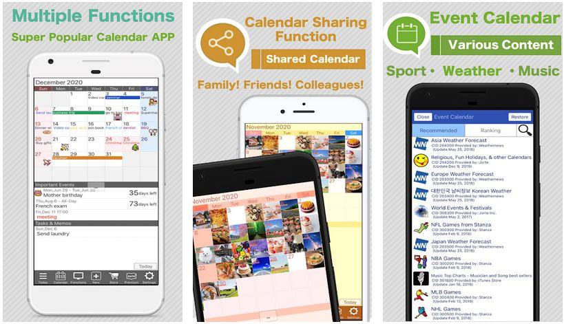 jorte calendar screenshots