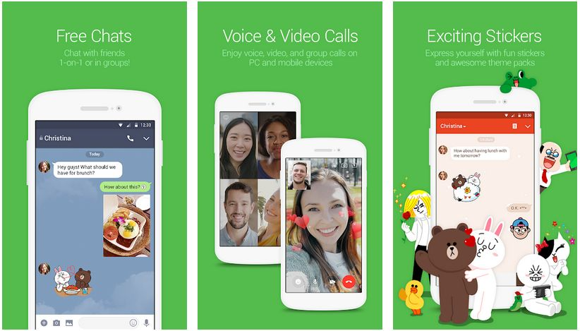 Line free calls on Android
