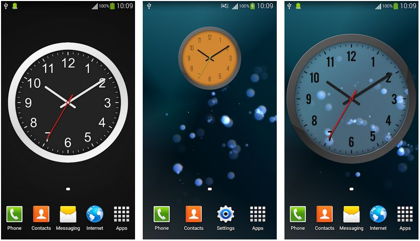 analog clock widget android