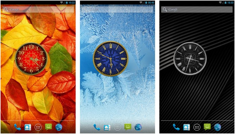 analog android clock widgets