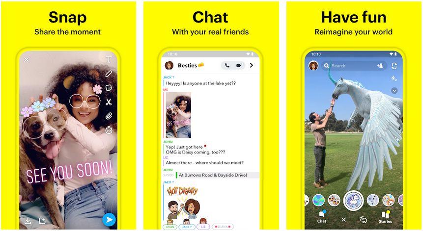 snapchat android free calls