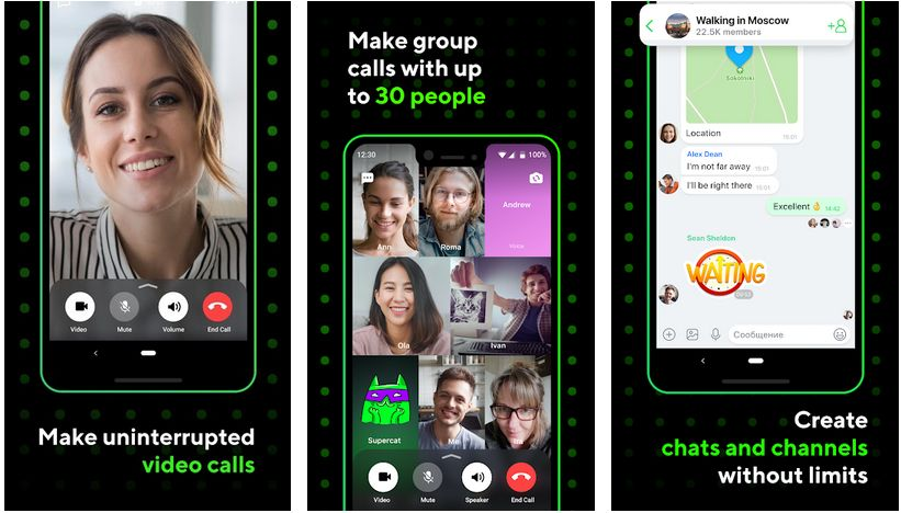 icq video calls and chat app
