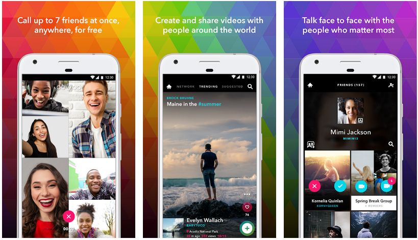oovoo video calling and chatting app android
