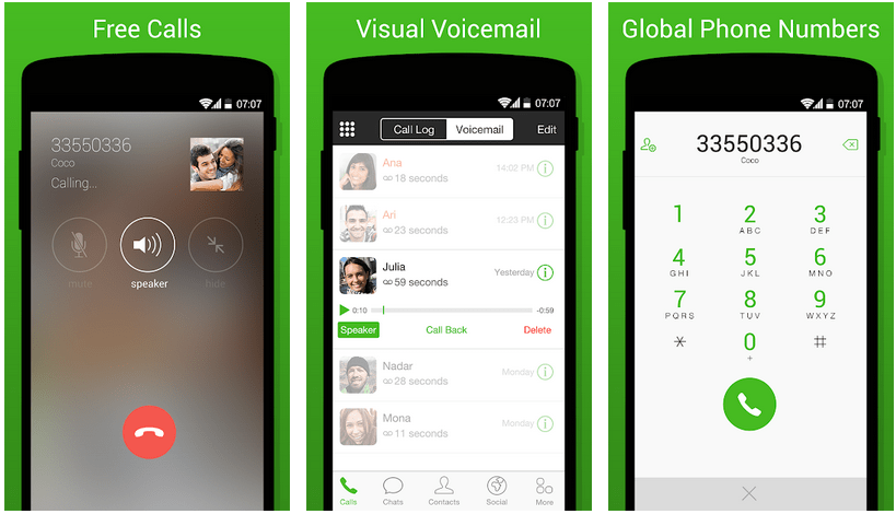 coco android chat room and calling app