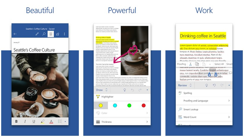 microsoft word for Android thesis writing apps