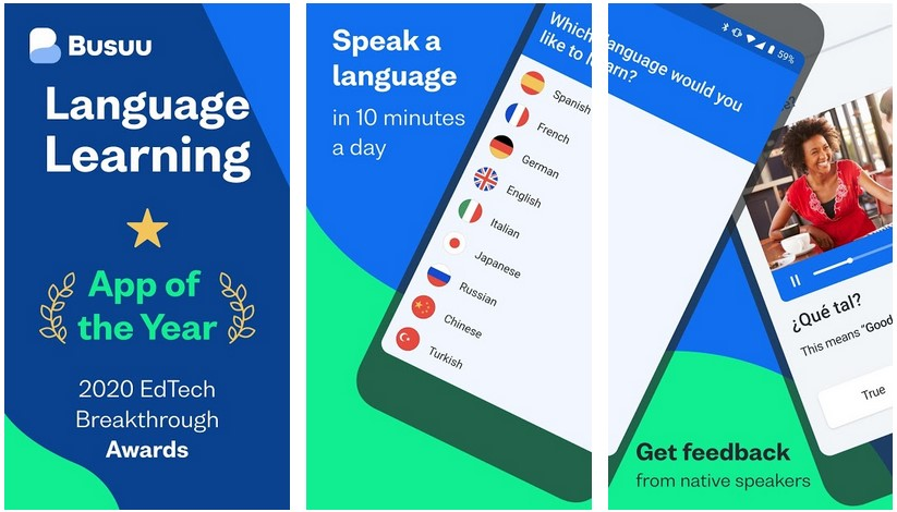 Busuu English learning Android
