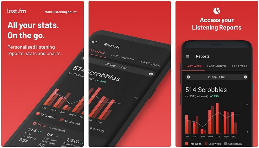 last.fm music streaming android