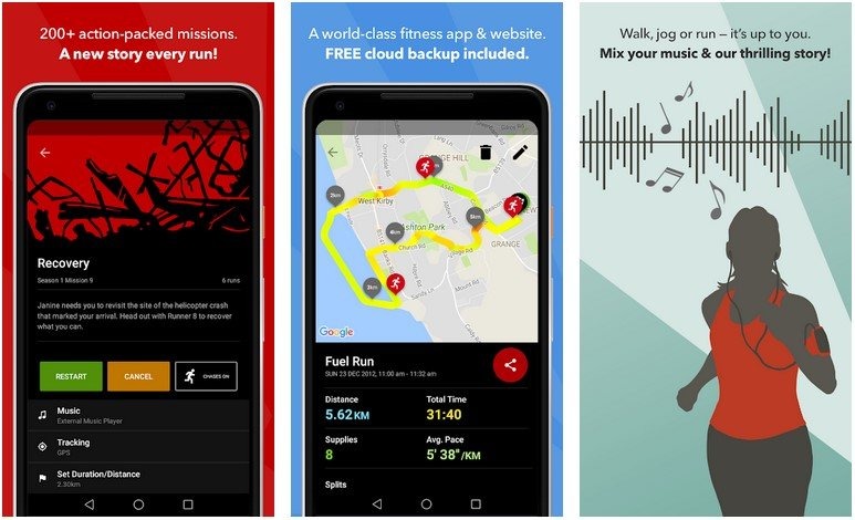 Zombies Run Android Running Tracker