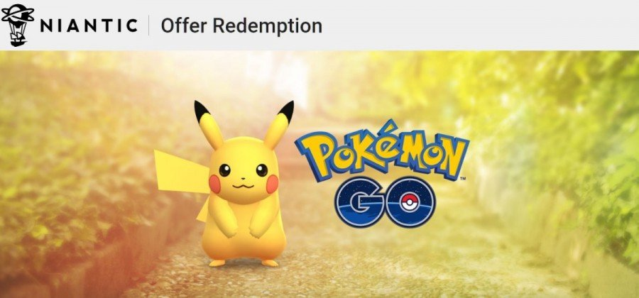 Niantic Offer Redemption for Pokemon GO promo codes
