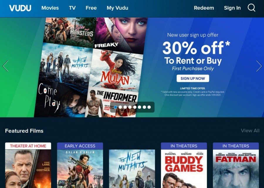 vudu movie streaming