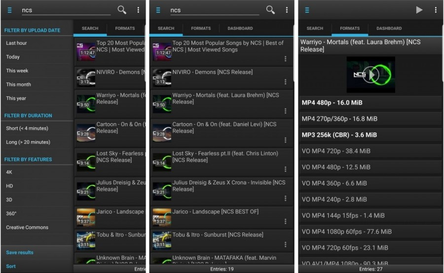 dentex youtube downloader android