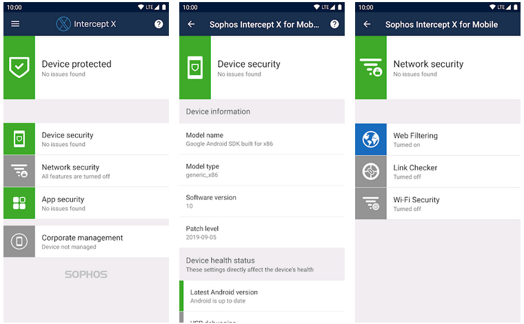 sophos intercept x for Android