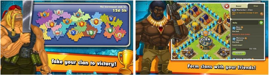 jungle heat war of clans strategy games