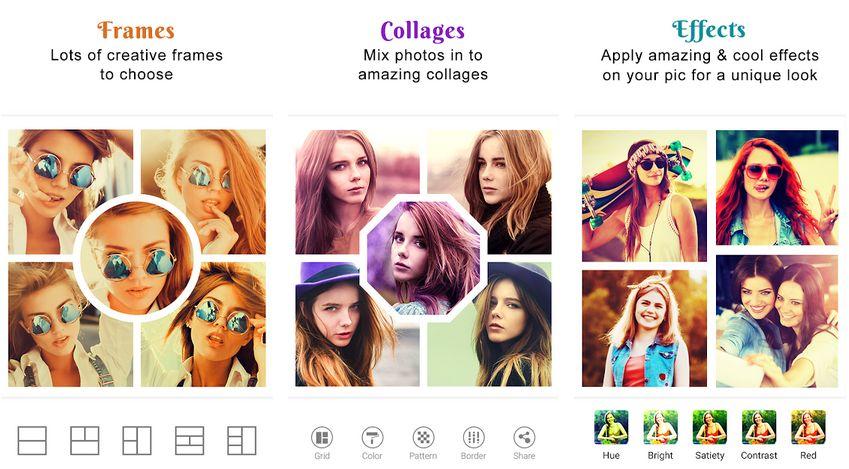 Photo collage maker frame