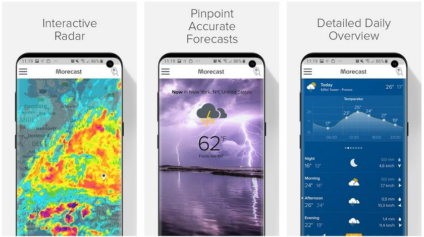 morecast android weather app