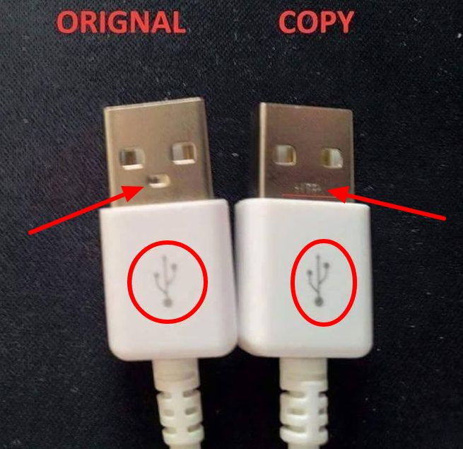 original vs copy usb cable