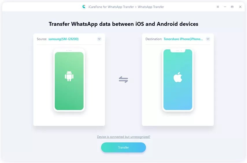 transfer whatsapp chat android to ios