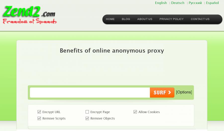 zend2 proxy
