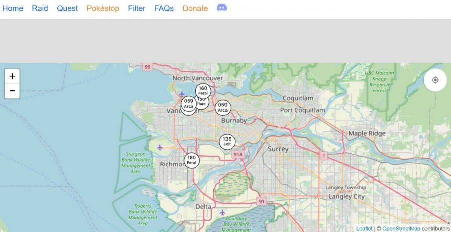 Vancouver Pokemon Go maps