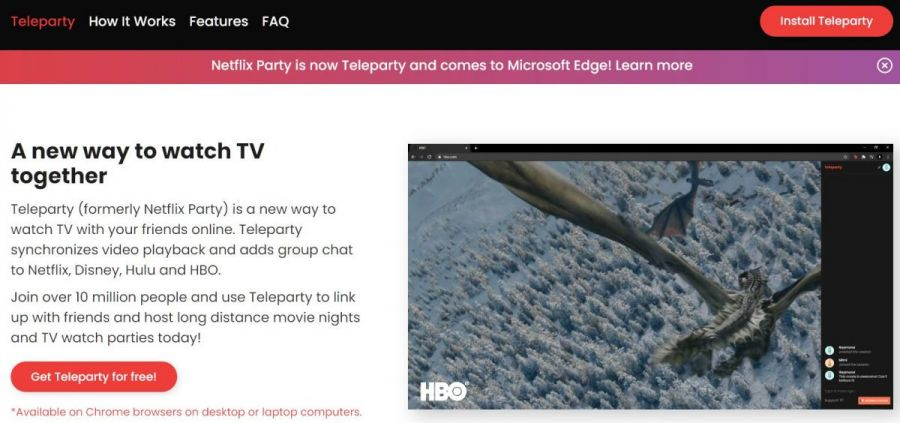 teleparty netflix party