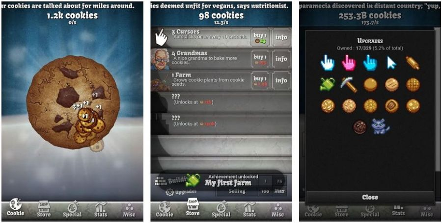 cookie clicker android screenshot