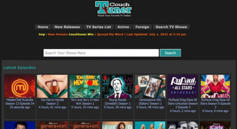 couchtuner watch tv shows online